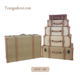 New Design Vintage Wooden Storage Luggage Suitcase Trunk Sets for Decoration