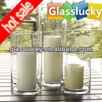 wholesale cheap cylinder tall glass candle holders for sale