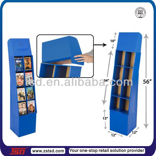 TSD-C690 factory custom cardboard magazine display stand,paper magazine rack,cardboard book display stands