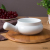 OEM 22 oz Ceramic chocolate cheese fondue pot with handle soup bowl attached iron tray