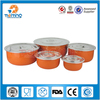 steel and pp food storage box/5pcs fresh box set/round storage box with lid