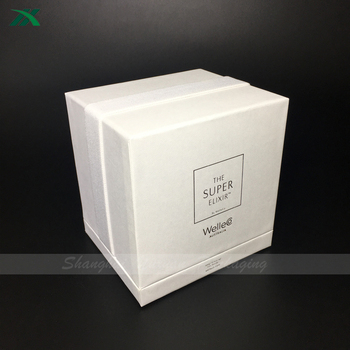 hot stamping square packaging box for candle bottle