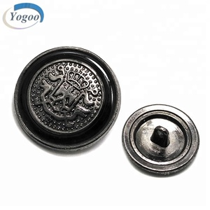 Decorative Chinese Die Casting Custom Logo Nickle Metal Clothing Shirt Button
