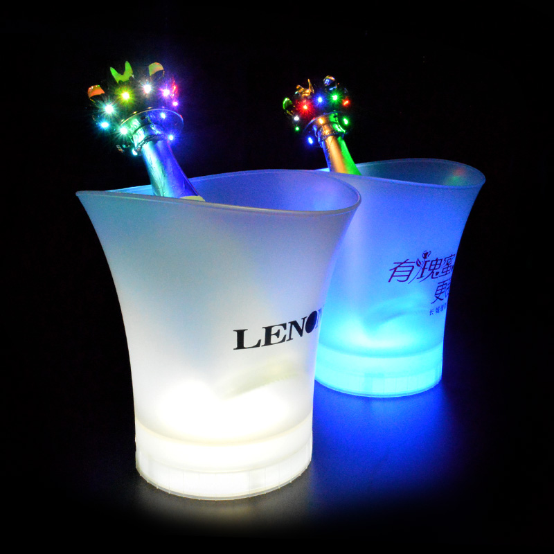 Hot promotion cheap custom champagne wine luminous led light ice bucket