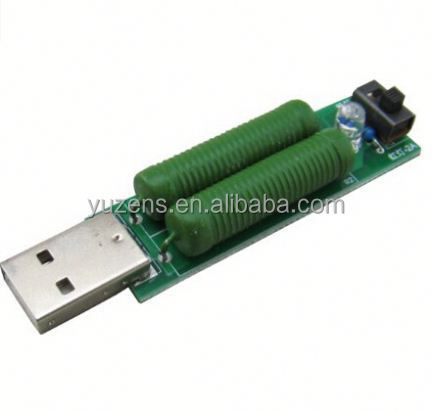 USB Interface Mini Discharge Load Resistor with Switch 2A 1A Green