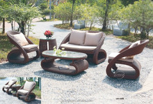 Unique curve design outdoor rattan sofa 5pcs sofa set
