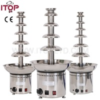 double commercial industrial chocolate fondue fountain