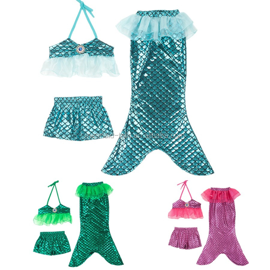 baby girls mermaid swimming suits with bow sets mermaid bathing