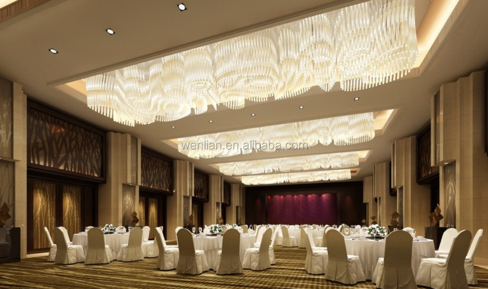 Elegant banquet hall lighting for wedding decoration