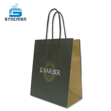 White Kraft Hair Salon Product Packaging Paper Bag With Logo