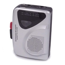 Portable Audio Cassette Player and cassette recorder with AM/FM radio with earphone