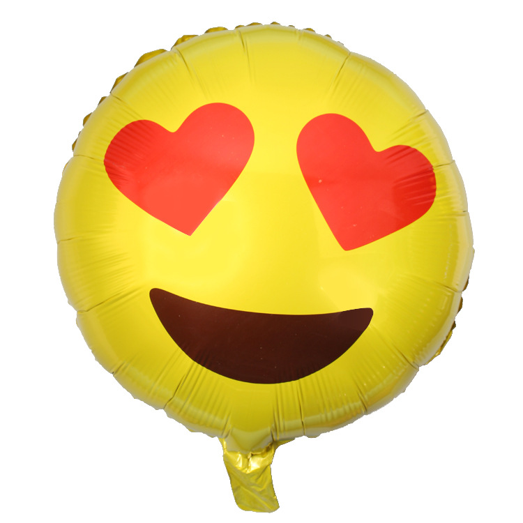 New Pattern 18 Inch Smiling Face Emoticon Birthday Party Aluminum Film Balloon