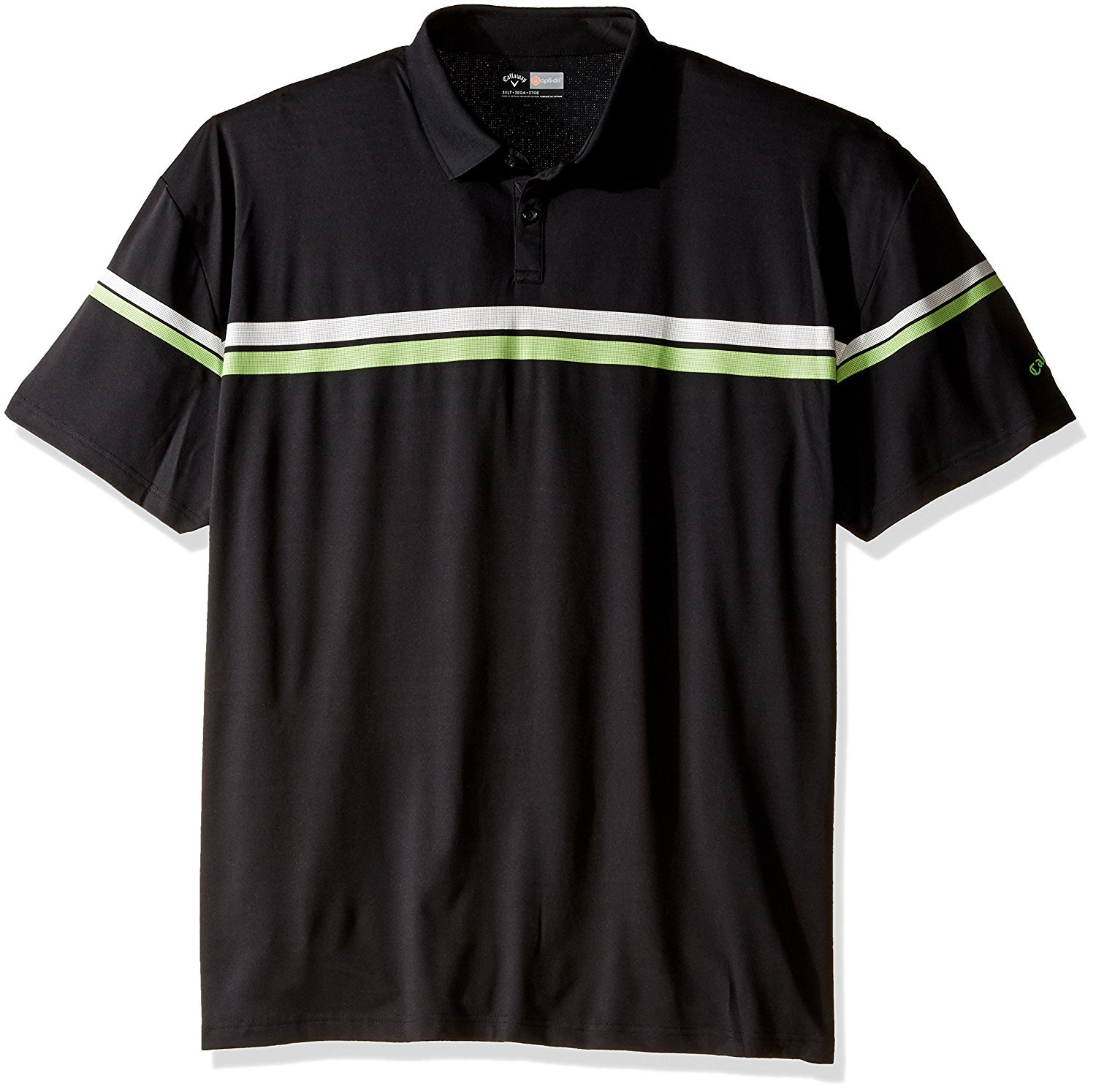 Callaway Men's Big & Tall Golf Performance Short Sleeve Athletic Printed Stripes Polo Shirt