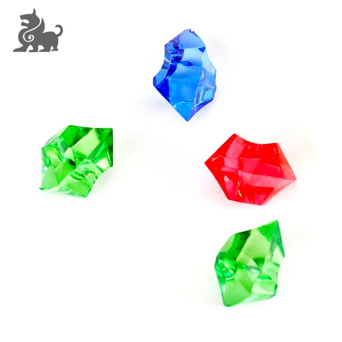 Gemas de plástico irregulares personalizadas de lujo de MOQ bajo para venta al por mayor