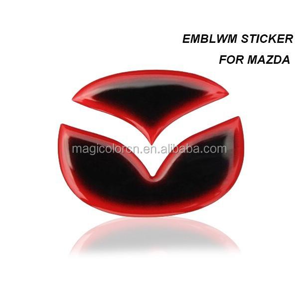 3d nuevo mazda 2 3 5 6 emblema sticker para mazda volante