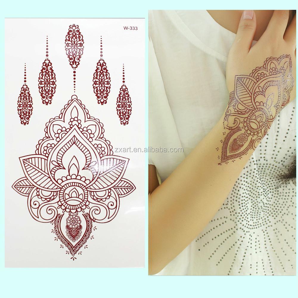 Henna Tattoo Gold : New fashion golden designs tattoo metallic gold