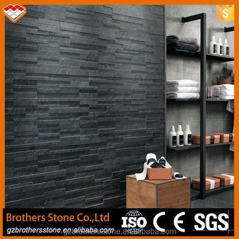 Imitation Brick Black Artificial Stone Faux Brick Veneer For Interior Wall