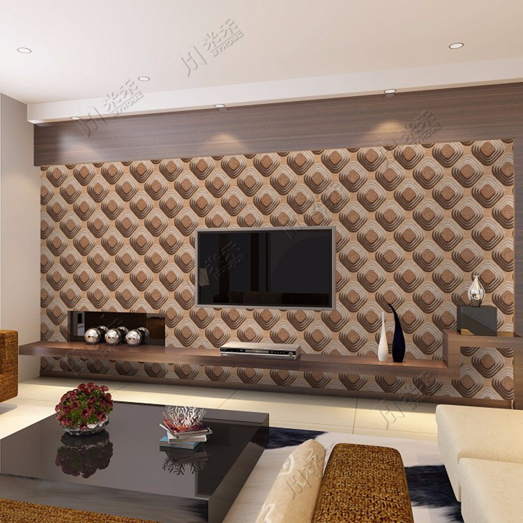 China Manufacturer Beautiful Design factory Living Room Wall Paper Decoration Best Interior Vinyl 3d Wall paper