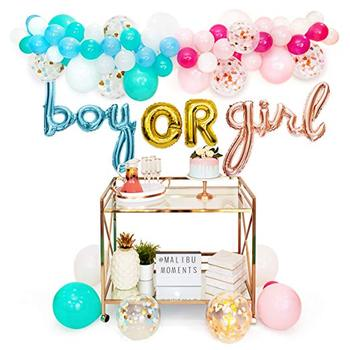 Boy or Girl Foil Balloon Garland Kit Decorations Gender Reveal Party Supplies