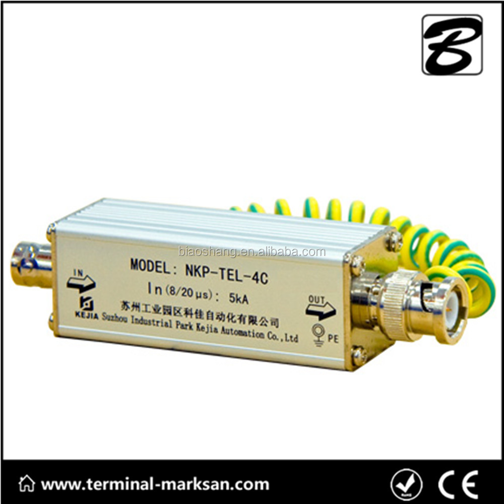 NKP-TEL-4C Single video surge arrestor/Coaxial surge protection/low voltage lightning surge arrester