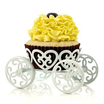 White Metal Wedding Table Minerals Fruit Cake Unicorn Carriage Cake
