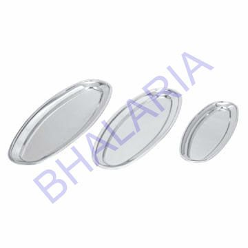 Stainless steel oval fish tray