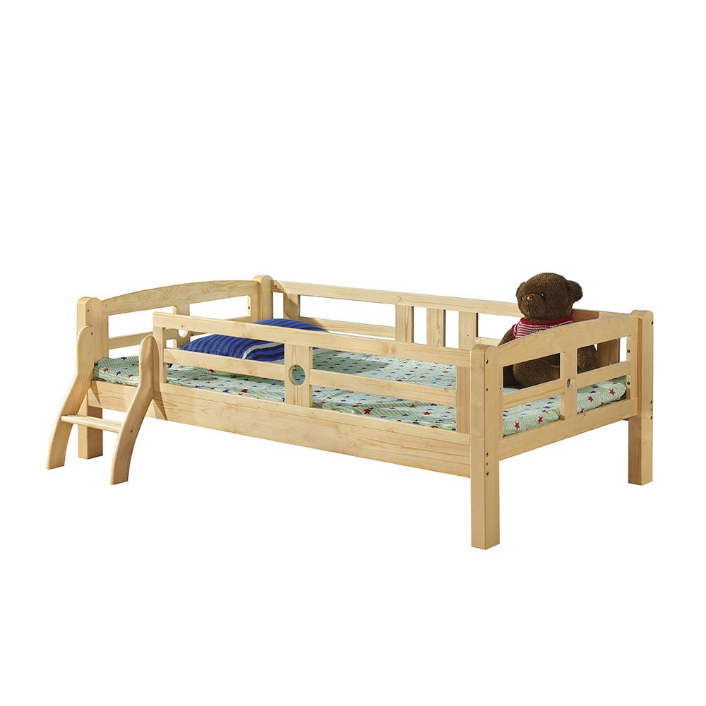 Peuterbed Comming Kids.Houten Peuter Bed Met Guard Rails En Ladder Enkele Bed Voor Kids