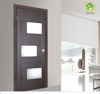 Genial Elegant Wooden Door With Frosted Glass Internal Doors