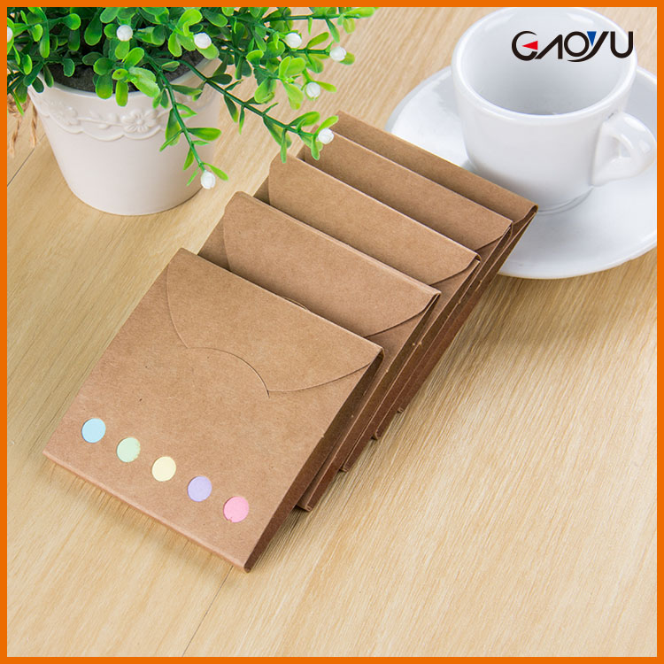 Most Popular Removable Easy Design Cheap Kraft Paper Packing Custom Sticky Notes