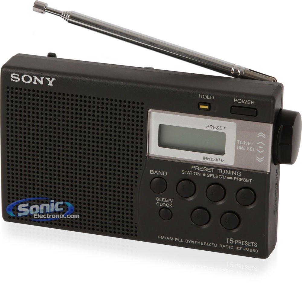 499e2c281aba Sony ICF-M260 AM/FM PLL Synthesized Clock Radio with Digital Tuning & Alarm