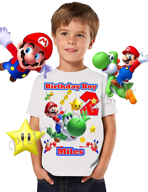 Mario Birthday Shirt, ADD any name and any age, Birthday Boy Shirt, Mario & Yoshi Birthday Shirt, FAMILY Matching Shirts, Super Mario Shirt, Birthday Shirt Super Mario, Yoshi Shirt, VISIT OUR SHOP!!