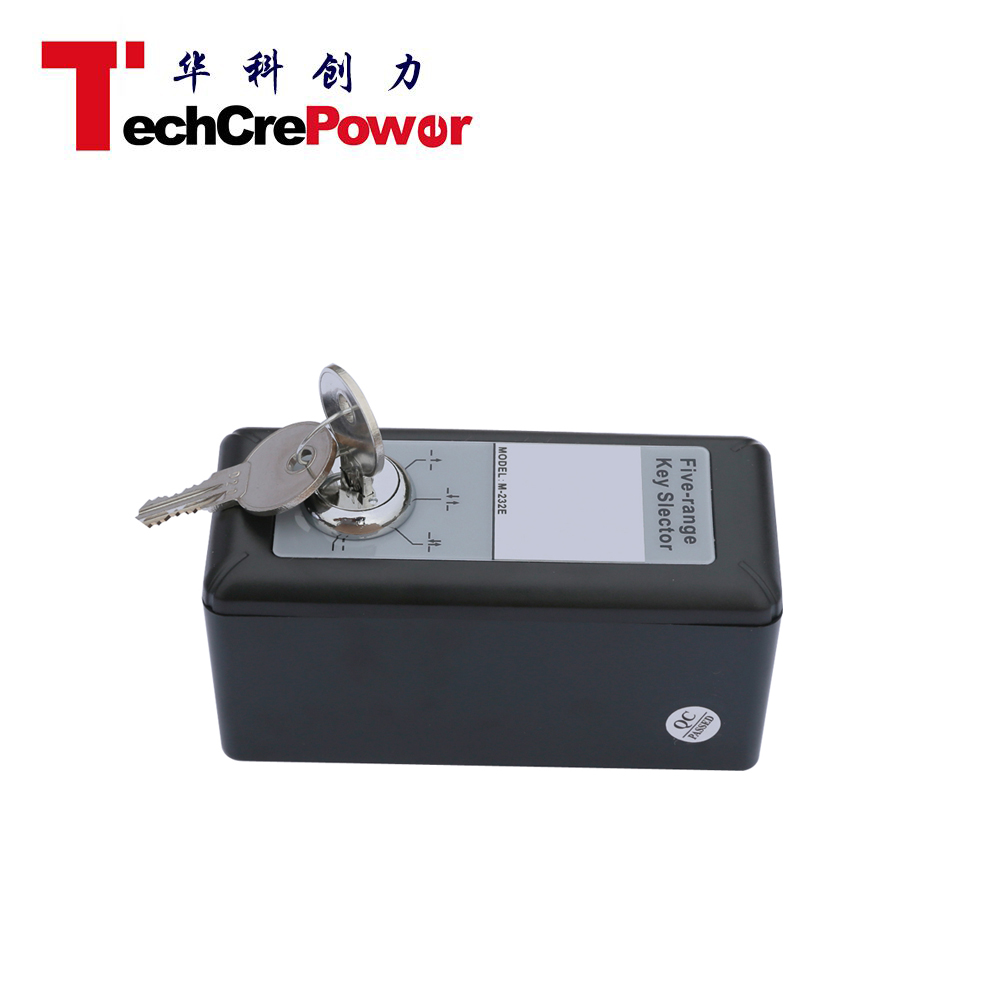 Automatic door Five-range Key Selector Push electrical key operated switch