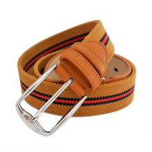 Men Women Needlepoint Fashion Fabric Belt Manufacturer Wholesale Elastic Newest Design Colorful Braided Jean Pin Belt For Unisex