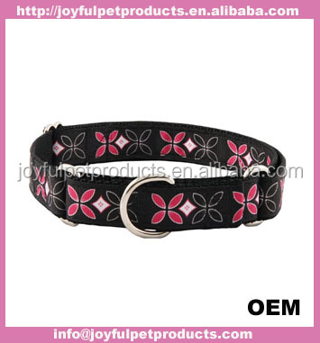 fashion hot sell and good quality polyester printed pet collars