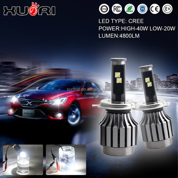 H1 H3 H4 H7 9005 9006 40w Crees H4 Led Headlight 30w Led Bulb Car ...