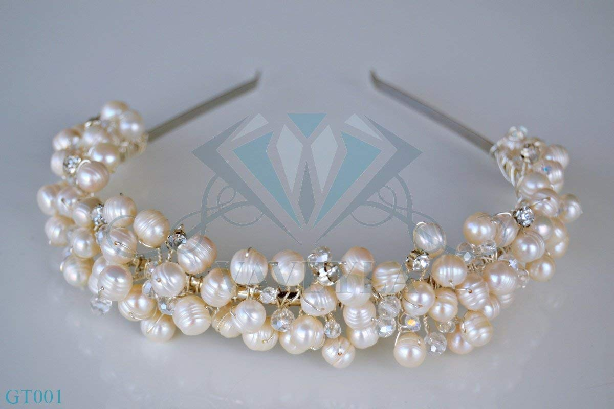 Gold And Pearl Headpiece Find