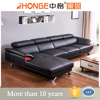 Stainless Steel L Shaped Genuine Leather Corner Sofa Latest Living Room L  Shaped Black Leather Sofa Designs - Buy Genuine Leather Corner Sofa,Latest  ...