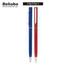 Reliabo Novelty Products Simple Design Press Thin Metal Ball Point Pens With Custom Logo