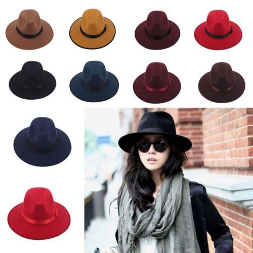 7a06f290b92da Get Quotations · Women Men Unisex Wool Blower Jazz Dance Hat Trilby Derby  Cap Fedora Felt Hats summer sun