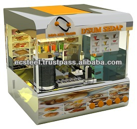Food Counter Carts - KS - 11575 Kiosk and Stall