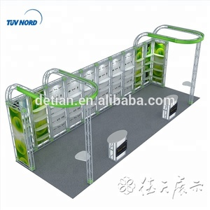 China Detian 3*6 exhibition products display booth exhibitions display stall design and fabrication , exhibition tv stand