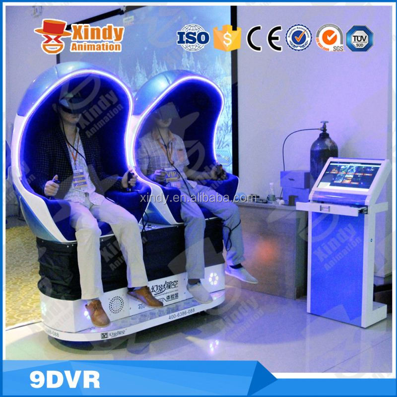 Roller coaster egg shape 9d sinema flight simulator for sale 9d cinema simulator