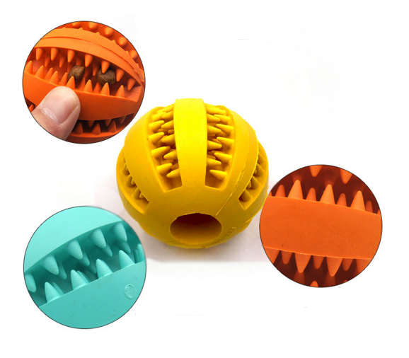 Amazon hotsales pet supplies food grade silicone molar toys tooth cleaner Silicone toy ball for dog