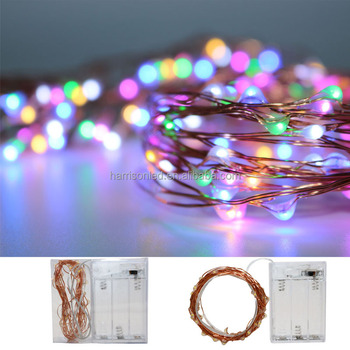 high quality cr2032 3aa 6aa battery operated copper wire fancy string lightsshort string christmas