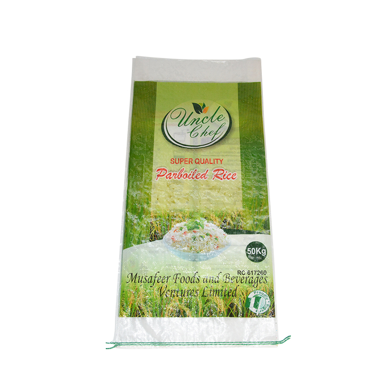 50kg China Supplier Customize Seal Pp Food Rice Packaging Plastic Bags
