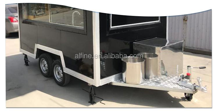 Square Food Trailer Mobile Kitchen Catering Food Bus Food Cart