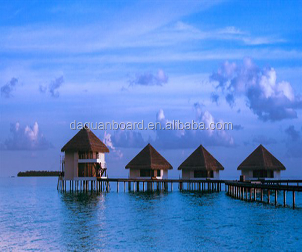 Overwater prefab tourist resort vacation house bungalow modular homes bungalow