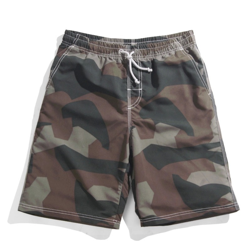 mens Camo shorts 3xl mens camo board shorts quick drying polyester summer casual grey Camo hot shorts 2xl brand High quality