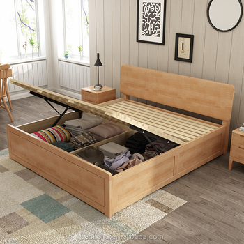Modern Solid Wood Storage Bed With Lift Up & Modern Solid Wood Storage Bed With Lift Up - Buy Hydraulic Lift Up ...