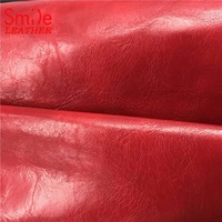 New Design Red Oil Wax PVC Synthetic Leather for Seat Cushion wholesales